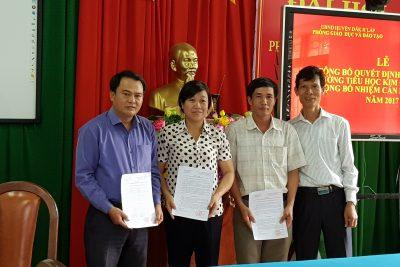 Lễ công bố Quyết định thành lập trường Tiểu học Kim Đồng và Quyết định điều động, bổ nhiệm cán bộ quản lý